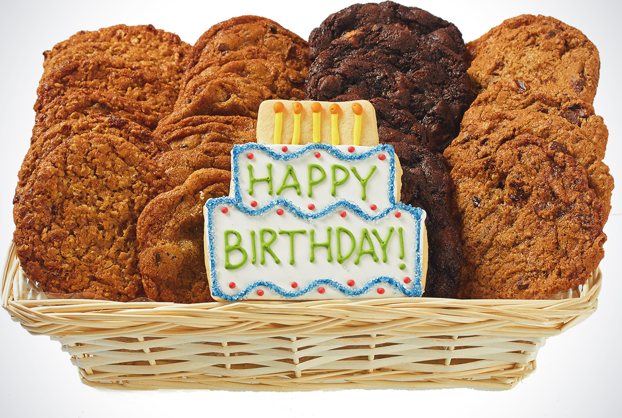 Happy Birthday Cookie Delivery Gift Basket