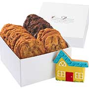 Cookie gift box with a house