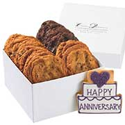 Happy Anniversary gift box of cookies